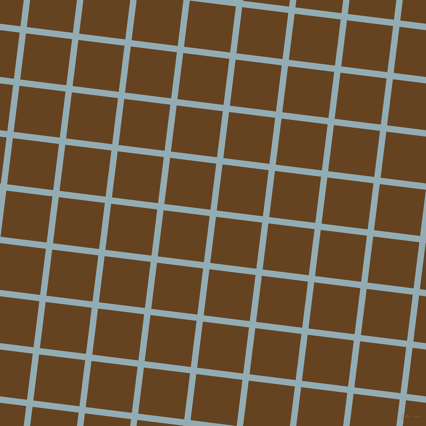 83/173 degree angle diagonal checkered chequered lines, 13 pixel lines width, 95 pixel square size, Botticelli and Dark Brown plaid checkered seamless tileable