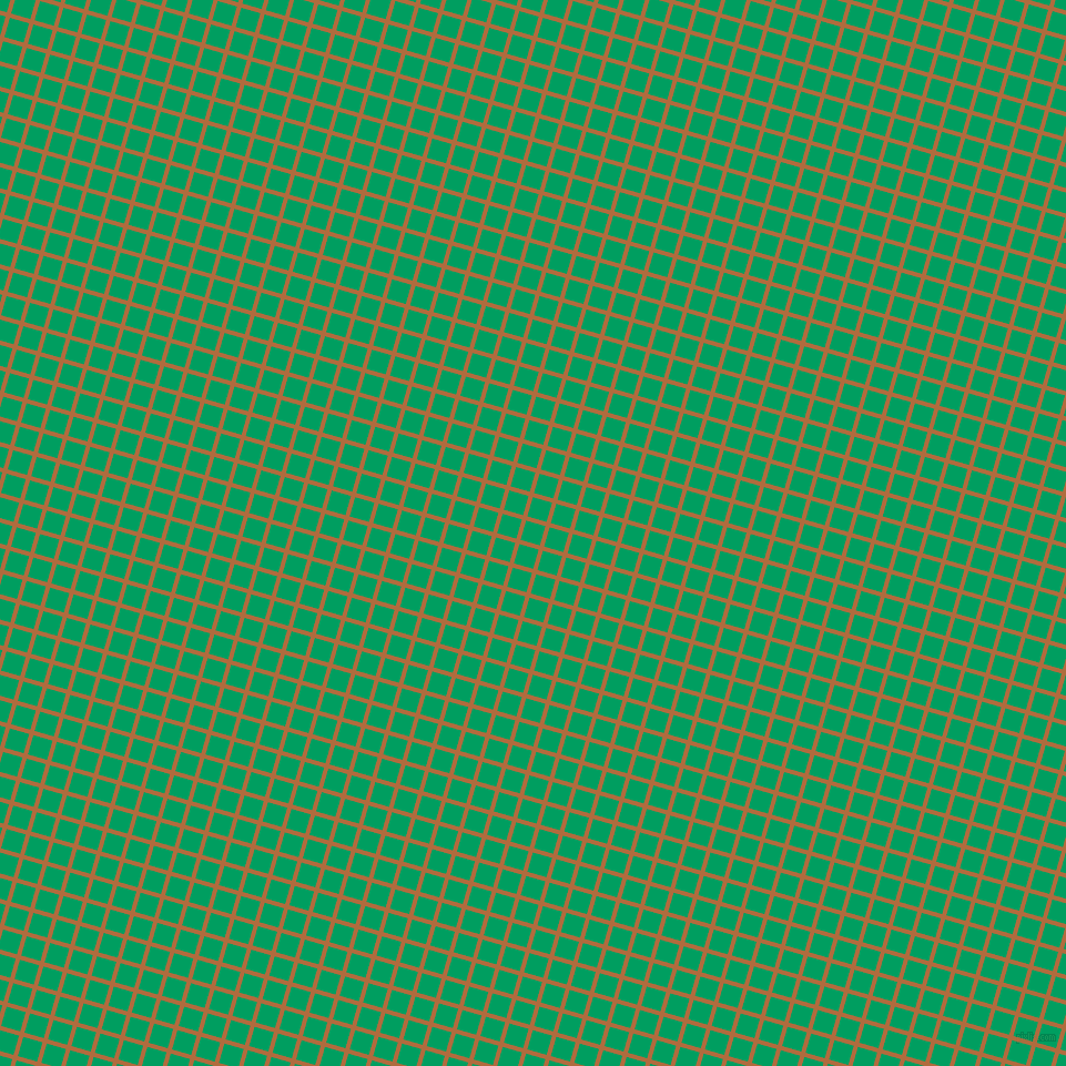 74/164 degree angle diagonal checkered chequered lines, 4 pixel line width, 18 pixel square size, Bourbon and Shamrock Green plaid checkered seamless tileable