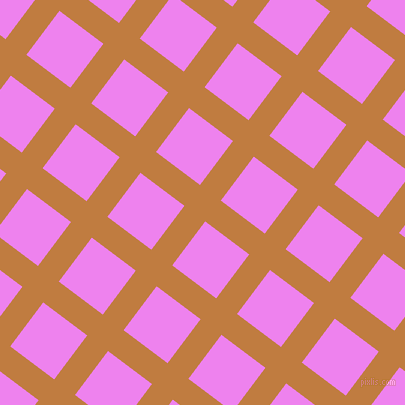 53/143 degree angle diagonal checkered chequered lines, 26 pixel lines width, 55 pixel square size, Brandy Punch and Violet plaid checkered seamless tileable