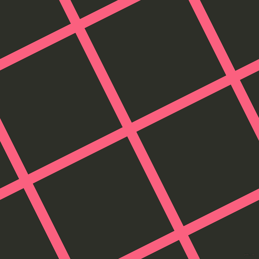 27/117 degree angle diagonal checkered chequered lines, 35 pixel lines width, 362 pixel square size, Brink Pink and Eternity plaid checkered seamless tileable