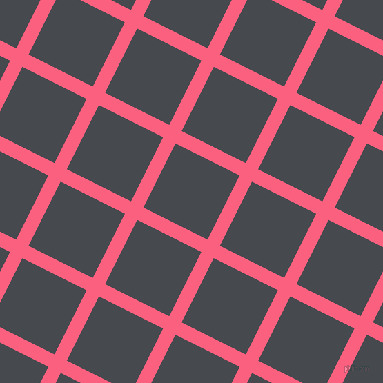 63/153 degree angle diagonal checkered chequered lines, 20 pixel lines width, 104 pixel square size, Brink Pink and Tuna plaid checkered seamless tileable