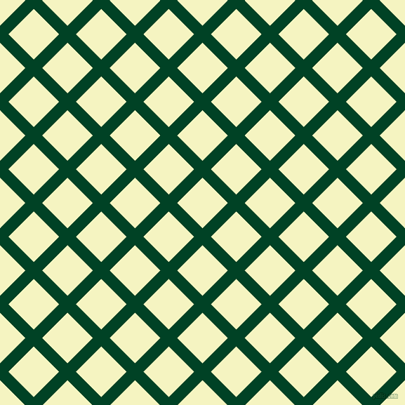 45/135 degree angle diagonal checkered chequered lines, 17 pixel lines width, 51 pixel square size, British Racing Green and Cumulus plaid checkered seamless tileable