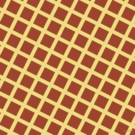 63/153 degree angle diagonal checkered chequered lines, 13 pixel lines width, 39 pixel square size, Buff and Rock Spray plaid checkered seamless tileable
