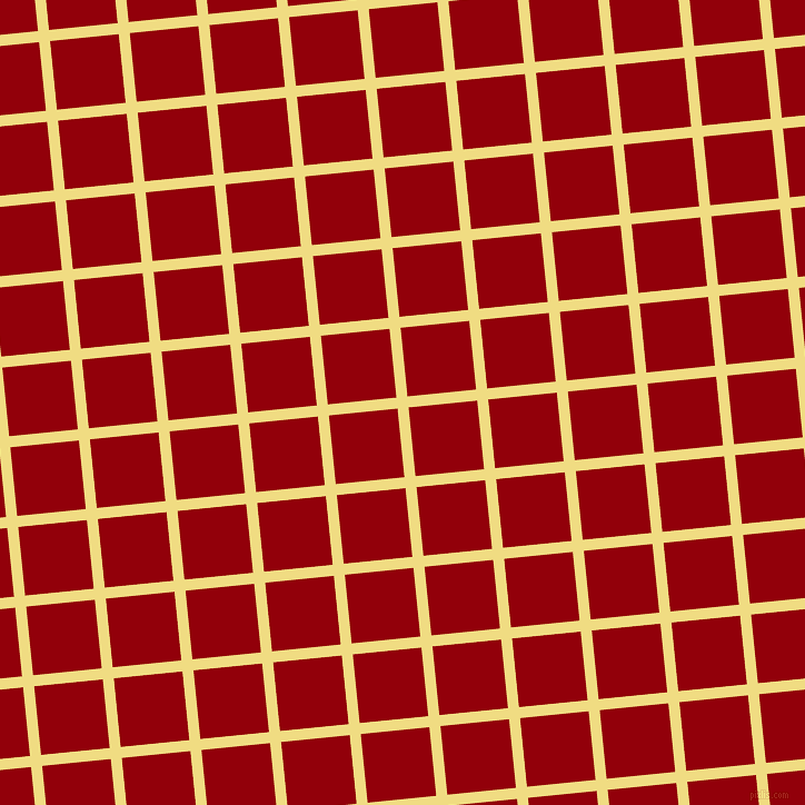 6/96 degree angle diagonal checkered chequered lines, 10 pixel line width, 62 pixel square size, Buff and Sangria plaid checkered seamless tileable