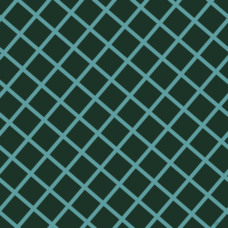 49/139 degree angle diagonal checkered chequered lines, 13 pixel line width, 71 pixel square size, Cadet Blue and Cardin Green plaid checkered seamless tileable
