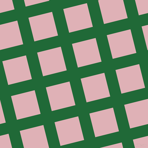 14/104 degree angle diagonal checkered chequered lines, 39 pixel lines width, 83 pixel square size, Camarone and Blossom plaid checkered seamless tileable