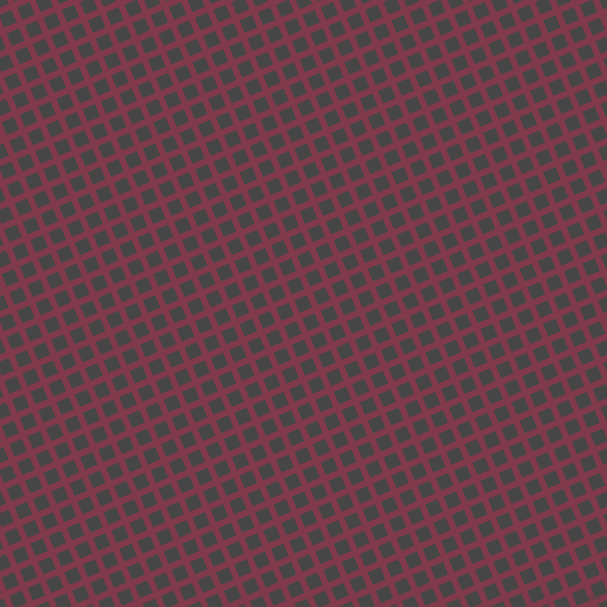 23/113 degree angle diagonal checkered chequered lines, 9 pixel lines width, 19 pixel square size, Camelot and Charcoal plaid checkered seamless tileable