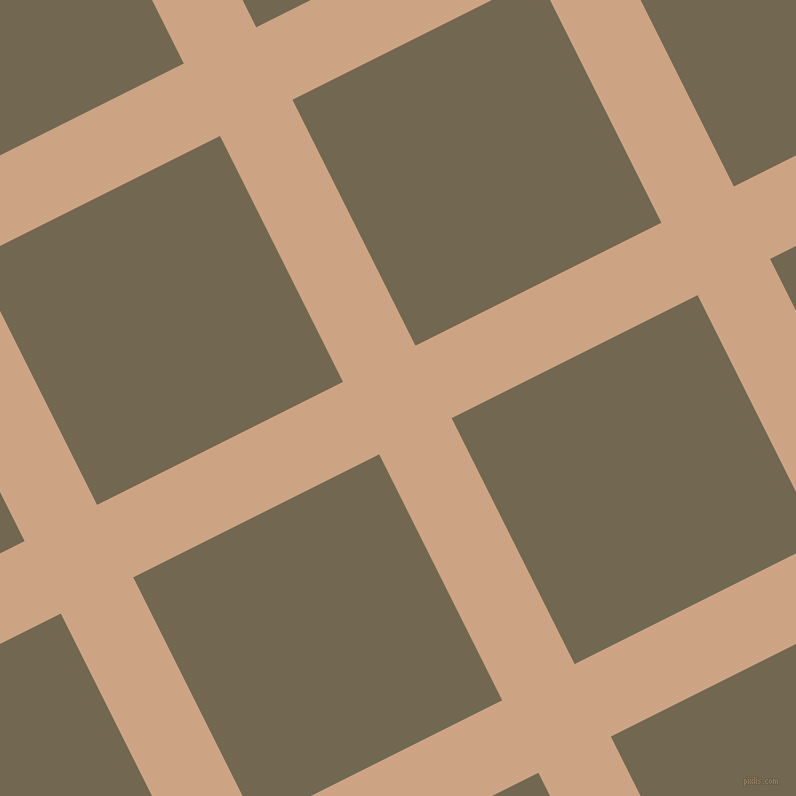 27/117 degree angle diagonal checkered chequered lines, 81 pixel lines width, 275 pixel square size, Cameo and Coffee plaid checkered seamless tileable