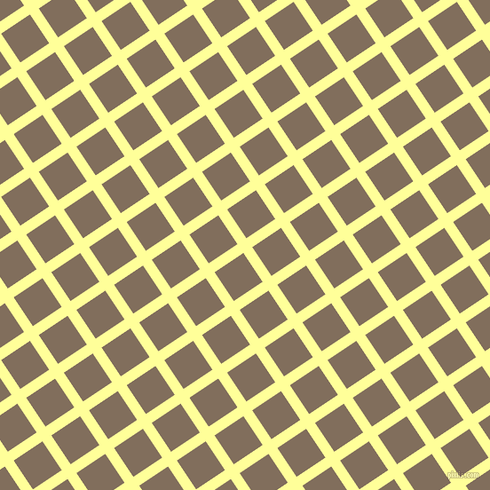 34/124 degree angle diagonal checkered chequered lines, 12 pixel lines width, 39 pixel square size, Canary and Donkey Brown plaid checkered seamless tileable