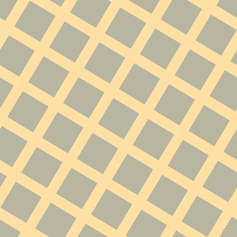 59/149 degree angle diagonal checkered chequered lines, 34 pixel line width, 97 pixel square size, Cape Honey and Tana plaid checkered seamless tileable