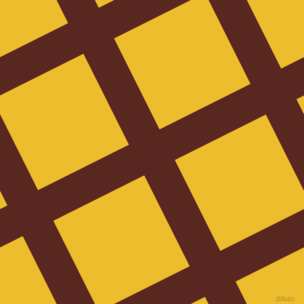 27/117 degree angle diagonal checkered chequered lines, 67 pixel lines width, 199 pixel square size, Caput Mortuum and Bright Sun plaid checkered seamless tileable