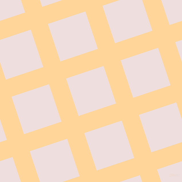 18/108 degree angle diagonal checkered chequered lines, 63 pixel line width, 138 pixel square size, Caramel and Soft Peach plaid checkered seamless tileable