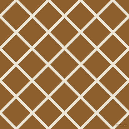 45/135 degree angle diagonal checkered chequered lines, 9 pixel line width, 64 pixel square size, Cararra and Rusty Nail plaid checkered seamless tileable