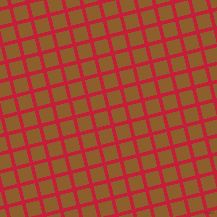 14/104 degree angle diagonal checkered chequered lines, 12 pixel lines width, 47 pixel square size, Cardinal and Rusty Nail plaid checkered seamless tileable