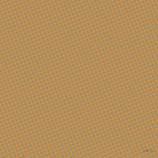 22/112 degree angle diagonal checkered chequered lines, 2 pixel lines width, 10 pixel square size, Carrot Orange and Pale Oyster plaid checkered seamless tileable