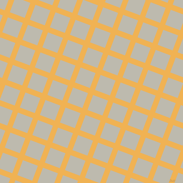 69/159 degree angle diagonal checkered chequered lines, 19 pixel line width, 56 pixel square size, Casablanca and Grey Nickel plaid checkered seamless tileable