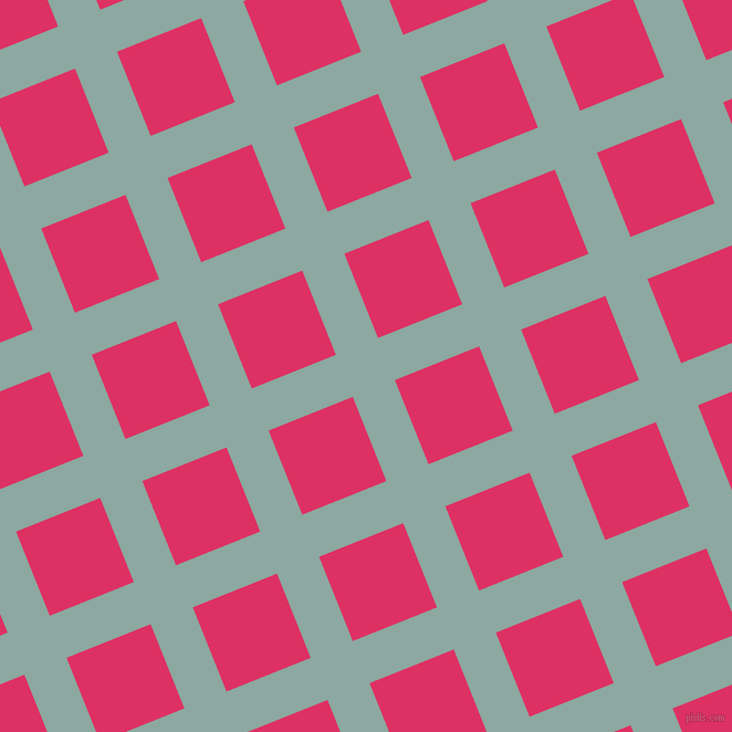 22/112 degree angle diagonal checkered chequered lines, 41 pixel lines width, 82 pixel square size, Cascade and Cerise plaid checkered seamless tileable