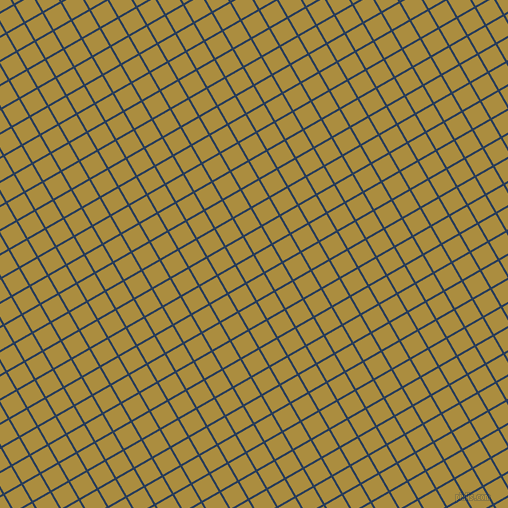 30/120 degree angle diagonal checkered chequered lines, 2 pixel line width, 19 pixel square size, Catalina Blue and Luxor Gold plaid checkered seamless tileable