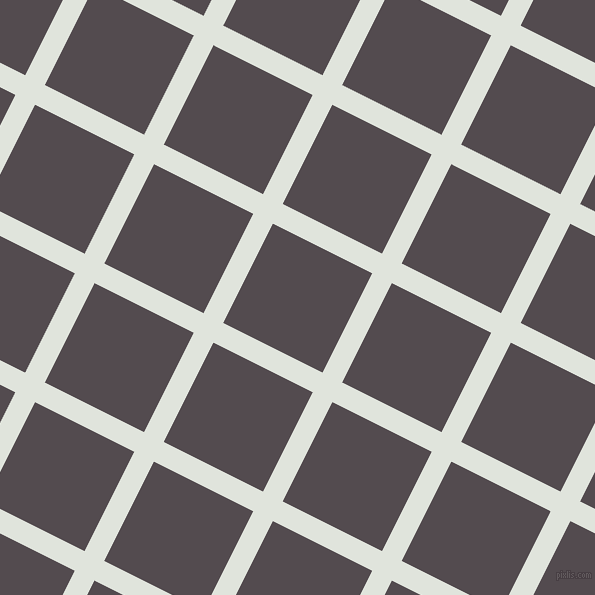 63/153 degree angle diagonal checkered chequered lines, 22 pixel line width, 111 pixel square size, Catskill White and Liver plaid checkered seamless tileable