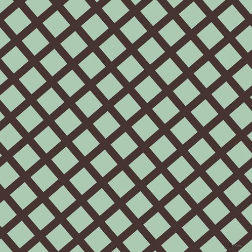 41/131 degree angle diagonal checkered chequered lines, 15 pixel line width, 39 pixel square size, Cedar and Gum Leaf plaid checkered seamless tileable