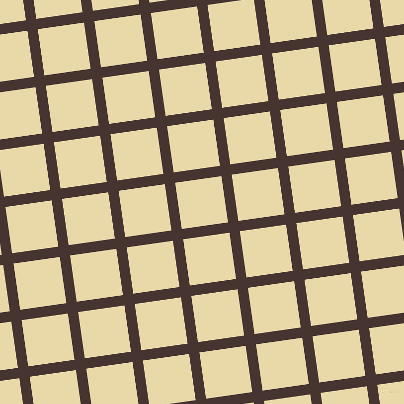 8/98 degree angle diagonal checkered chequered lines, 21 pixel line width, 94 pixel square size, Cedar and Sidecar plaid checkered seamless tileable
