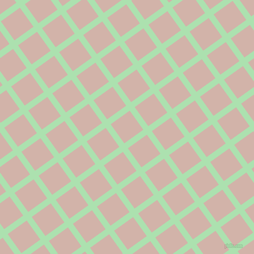 36/126 degree angle diagonal checkered chequered lines, 12 pixel lines width, 46 pixel square size, Celadon and Clam Shell plaid checkered seamless tileable