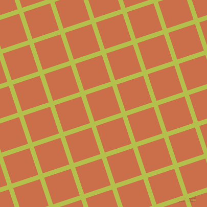 18/108 degree angle diagonal checkered chequered lines, 9 pixel line width, 55 pixel square size, Celery and Red Damask plaid checkered seamless tileable