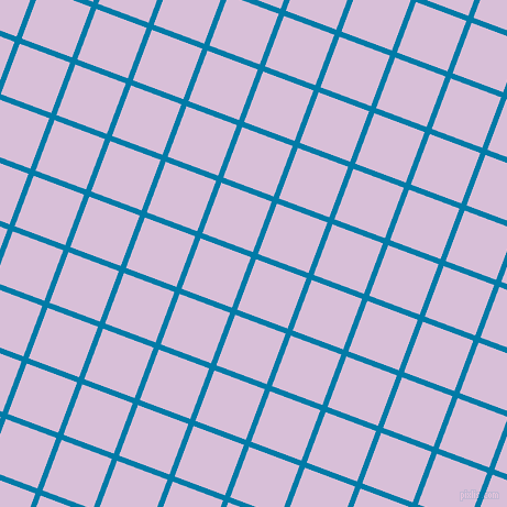 69/159 degree angle diagonal checkered chequered lines, 5 pixel line width, 49 pixel square size, Cerulean and Thistle plaid checkered seamless tileable