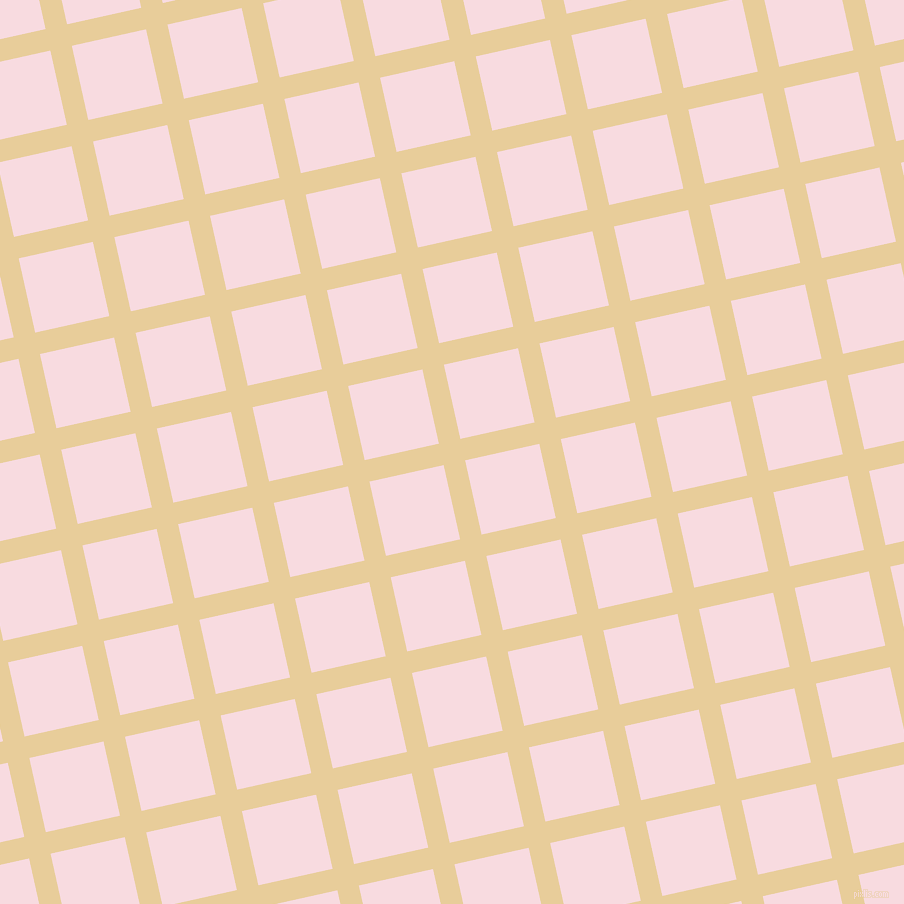 13/103 degree angle diagonal checkered chequered lines, 22 pixel lines width, 76 pixel square size, Chamois and Carousel Pink plaid checkered seamless tileable