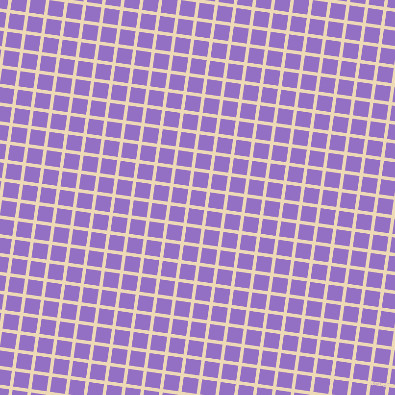 82/172 degree angle diagonal checkered chequered lines, 7 pixel lines width, 31 pixel square size, Champagne and Lilac Bush plaid checkered seamless tileable