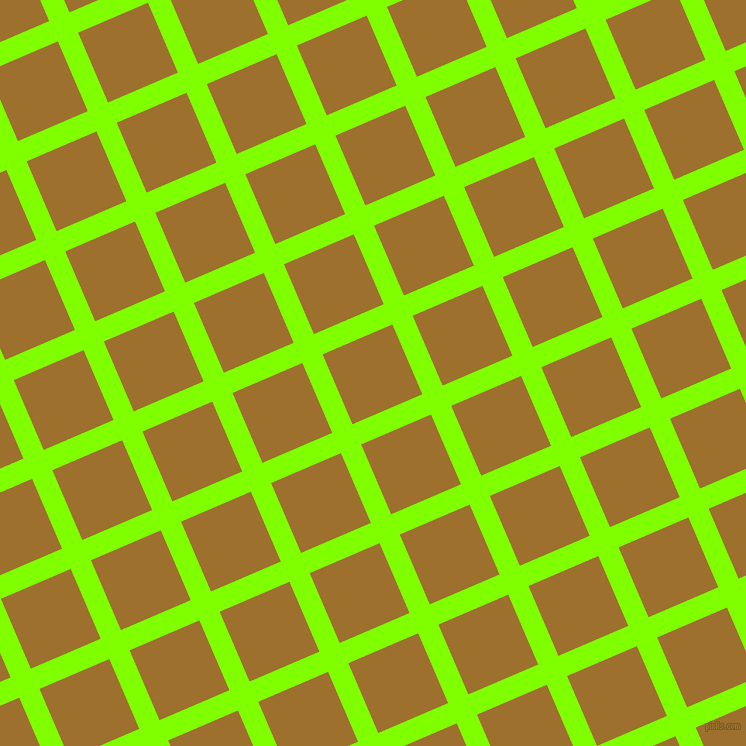 23/113 degree angle diagonal checkered chequered lines, 22 pixel line width, 76 pixel square size, Chartreuse and Buttered Rum plaid checkered seamless tileable