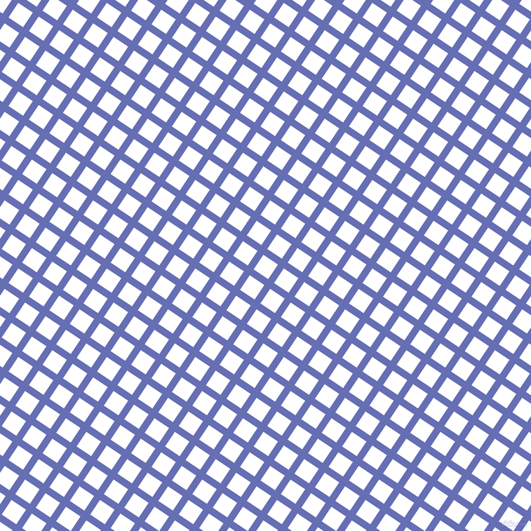 56/146 degree angle diagonal checkered chequered lines, 10 pixel line width, 25 pixel square size, Chetwode Blue and White plaid checkered seamless tileable