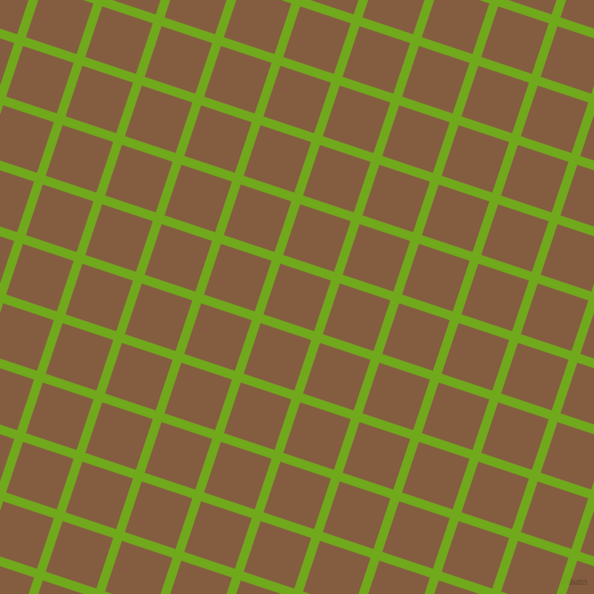72/162 degree angle diagonal checkered chequered lines, 13 pixel line width, 75 pixel square size, Christi and Potters Clay plaid checkered seamless tileable