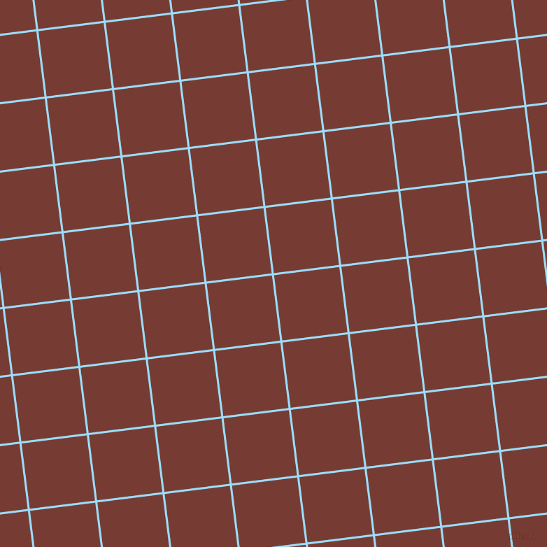7/97 degree angle diagonal checkered chequered lines, 3 pixel lines width, 94 pixel square size, Columbia Blue and Crown Of Thorns plaid checkered seamless tileable