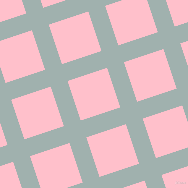 18/108 degree angle diagonal checkered chequered lines, 60 pixel lines width, 141 pixel square size, Conch and Pink plaid checkered seamless tileable