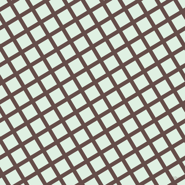 31/121 degree angle diagonal checkered chequered lines, 13 pixel lines width, 39 pixel square size, Congo Brown and Off Green plaid checkered seamless tileable