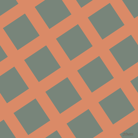 34/124 degree angle diagonal checkered chequered lines, 40 pixel line width, 90 pixel square size, Copper and Blue Smoke plaid checkered seamless tileable