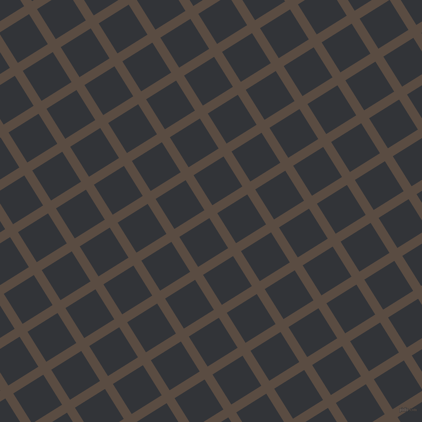 32/122 degree angle diagonal checkered chequered lines, 19 pixel lines width, 72 pixel square size, Cork and Ebony Clay plaid checkered seamless tileable