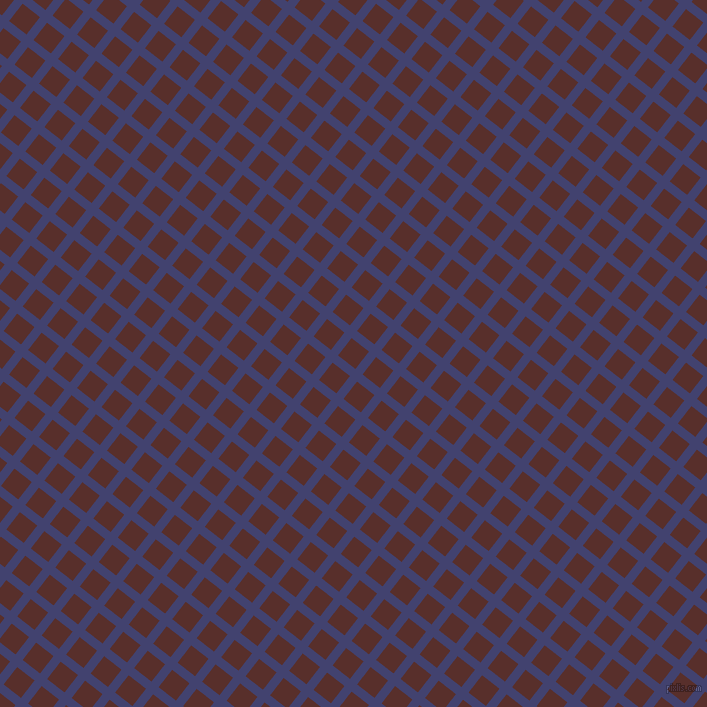 52/142 degree angle diagonal checkered chequered lines, 9 pixel lines width, 22 pixel square size, Corn Flower Blue and Moccaccino plaid checkered seamless tileable