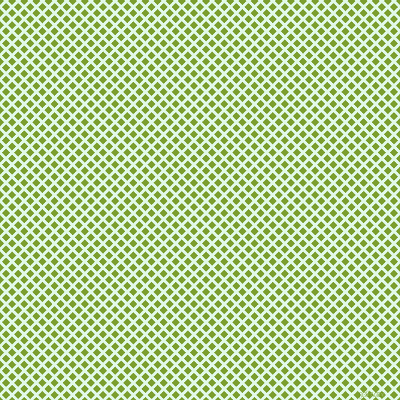 45/135 degree angle diagonal checkered chequered lines, 4 pixel line width, 8 pixel square size, Cosmic Latte and Sushi plaid checkered seamless tileable