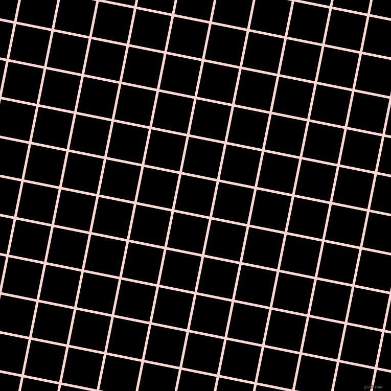 79/169 degree angle diagonal checkered chequered lines, 5 pixel line width, 70 pixel square size, Cosmos and Black plaid checkered seamless tileable