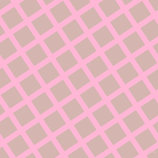 34/124 degree angle diagonal checkered chequered lines, 23 pixel line width, 70 pixel square size, Cotton Candy and Oyster Pink plaid checkered seamless tileable