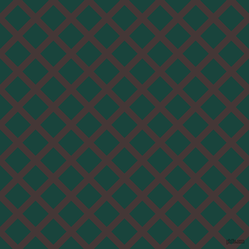 45/135 degree angle diagonal checkered chequered lines, 13 pixel line width, 37 pixel square size, Cowboy and Deep Teal plaid checkered seamless tileable