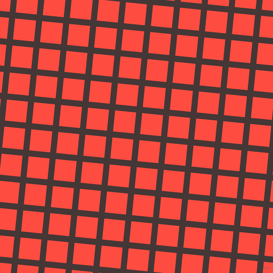 84/174 degree angle diagonal checkered chequered lines, 23 pixel lines width, 80 pixel square size, Cowboy and Sunset Orange plaid checkered seamless tileable