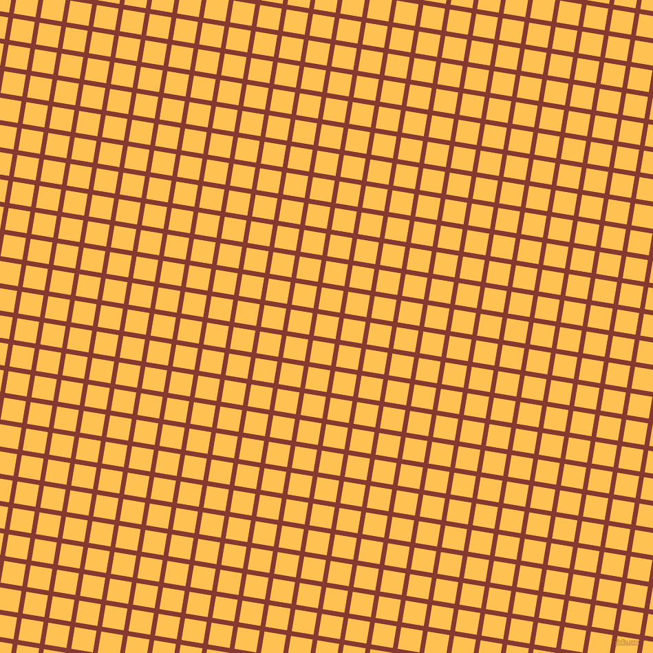 81/171 degree angle diagonal checkered chequered lines, 7 pixel line width, 32 pixel square size, Crab Apple and Golden Tainoi plaid checkered seamless tileable