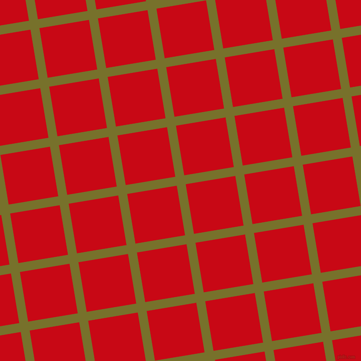 9/99 degree angle diagonal checkered chequered lines, 18 pixel line width, 100 pixel square size, Crete and Venetian Red plaid checkered seamless tileable