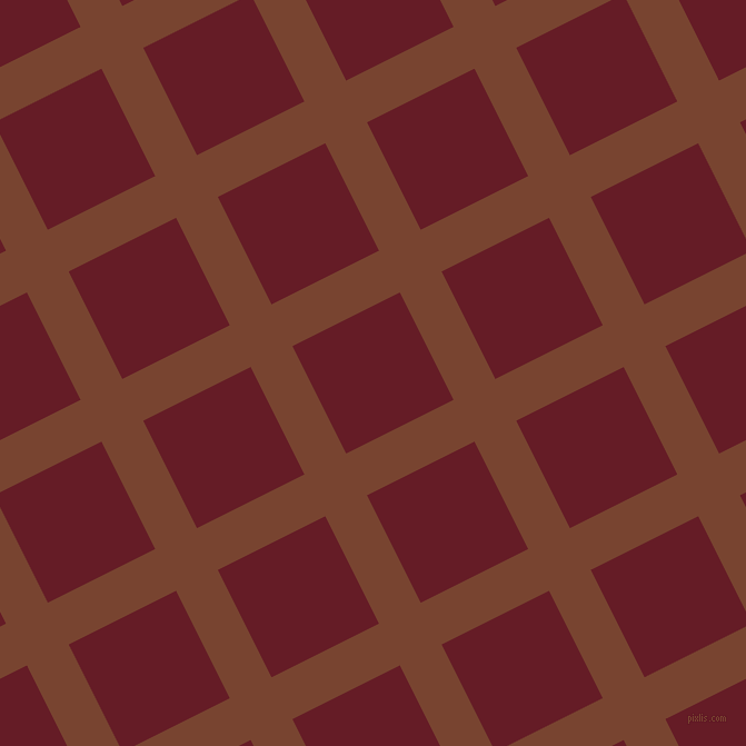 27/117 degree angle diagonal checkered chequered lines, 42 pixel lines width, 108 pixel square size, Cumin and Pohutukawa plaid checkered seamless tileable