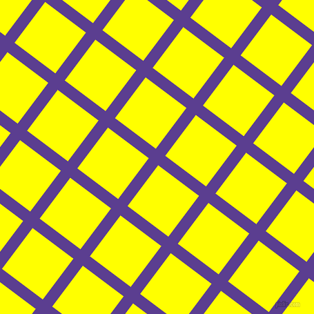 53/143 degree angle diagonal checkered chequered lines, 17 pixel line width, 74 pixel square size, Daisy Bush and Yellow plaid checkered seamless tileable