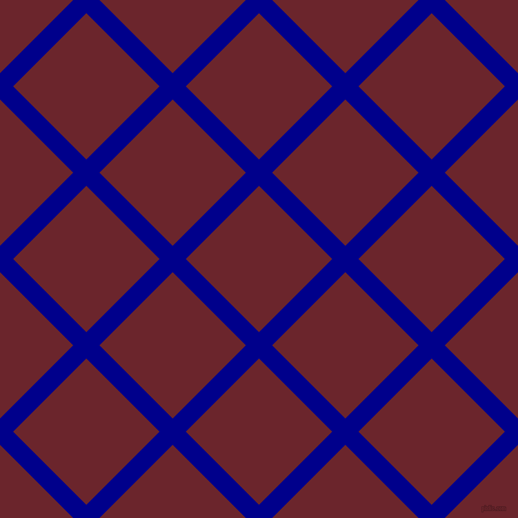 45/135 degree angle diagonal checkered chequered lines, 27 pixel lines width, 150 pixel square size, Dark Blue and Monarch plaid checkered seamless tileable