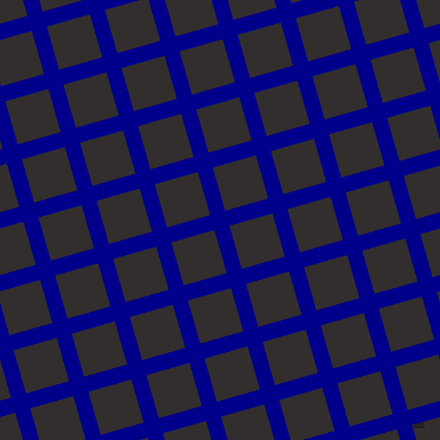 16/106 degree angle diagonal checkered chequered lines, 22 pixel lines width, 63 pixel square size, Dark Blue and Night Rider plaid checkered seamless tileable